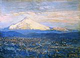 childe hassam Mount Hood painting